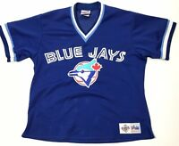 Majestic Vintage 90's Toronto Blue Jays Mesh Jersey Mens XL Baseball MLB