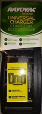 Rayovac Universal Charger 4AA / AAA / C / D / 1- 9V   NiMH or NiCD Batteries