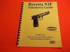 TAKEDOWN MANUAL GUIDE BERETTA 92F PISTOL, step by step illustrated instructions