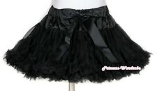 Pageant Pure Black Tutu FULL Skirt Dance Party Dress For Girl Adult Women Lady