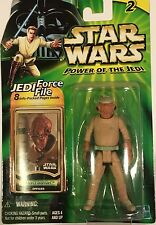 Star Wars Mon Calamari Officer - Power of the Jedi Action Figure with Force File