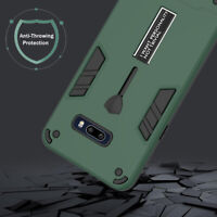 For LG G8X ThinQ Shockproof Hybrid Armor Kickstand Case Cover + Screen Protector
