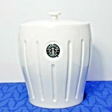 Starbucks Coffee / Cookie  Pleated Logo Canister with Mermaid 2003 EXC!