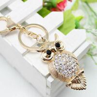 Handbag Pendant Keyring Chain Key Purse Owl Keychain Gift Charm Bag Ring Crystal