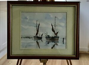Preparing to sail - Pen and Wash by John Clarke