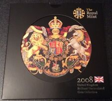 Royal Mint 2008 United Kingdom Brilliant Uncirculated 9 Coin Set