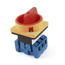 6 Terminals Rotary Cam Changeover Switch On/Off Position AC 600V 40A