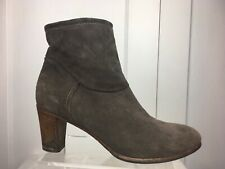"Alberto Fermani Italy Made Suede Booties Ankle Boots Women's Sz 38/8 Heel 3"" GUC"