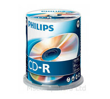 Philips CD-R 100 Pack Spindle 52x 700MB Blank CD Media Disks