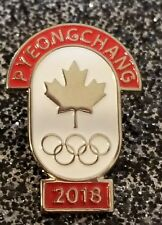 2018 PyeongChang  Olympic Team CANADA -NOC - DATED pin