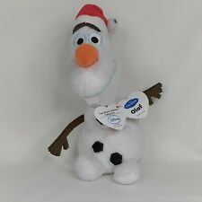 "Ty Beanie Babies Disney Frozen Sparkle Olaf 8"" Snowman Santa Hat ~ NWMT!!!"