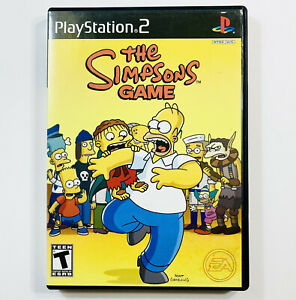 The Simpsons Game (Sony PlayStation 2, 2007) Ps2. With Manual. Tested & Working!