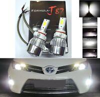 LED Kit C6 72W PS19W 12085 5201 5000K White Two Bulbs Daytime Light DRL Upgrade