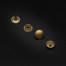 10 Press studs 15mm cap heavy duty snap popper fastener craft black silver gold