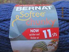 Bernat Softee Chunky Solid FADED DENIM Blue 3.5 oz 100% Acrylic Super Bulky # 6