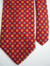 "Perry Ellis Men's 100% Silk Novelty Neck Tie Red Multi 4"" x 57"""