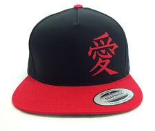 GAARA LOVE SYMBOL, Black and Red Baseball Cap, Naruto Cosplay, casual hat, Otaku
