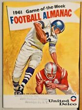 1961 Football Almanac Game of the Week United Delco Masthead Corporation Rare