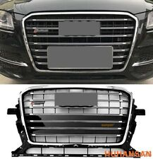 For Audi Q5 2013-2017 SQ5 Style Chrome Frame Front Upper Strip Grille Grill