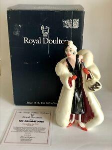 Rare Ltd Ed Royal Doulton HN3839 101 Dalmatians 'Cruella De Vil' Disney Villains