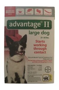 Advantage II for Large Dogs (21- 55 lbs, 6 Pack) USA EPA Approved