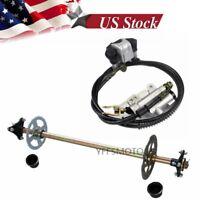 Go Kart Rear Axle Complete Kit + Brake Master Cylinder fit Gokart Quad ATV Buggy