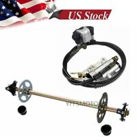 Go Kart Rear Axle Complete Kits + Brake Master Cylinder fit Mini Quad ATV Buggy