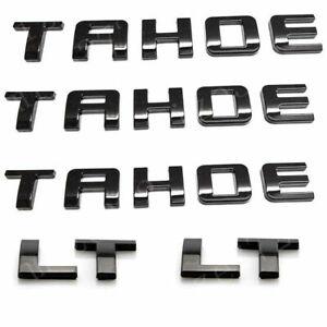 Gloss Black TAHOE Nameplate EMBLEM Letter For 2007-2020 LT Set (5pcs)