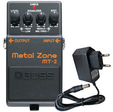 BOSS mt-2 metal zone Distortion Pedal + alimentation