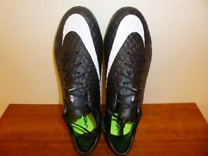 Men's Nike Hypervenom Phinish FG Soccer Cleats 749901 017 Black/White/Vlt Size 8