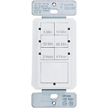Defiant 15 Amp 4-Hour Countdown In-Wall Timer with Ground Terminal