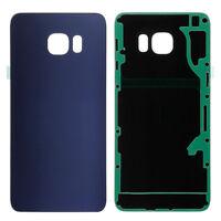 Samsung Galaxy S6 Edge Vetro Cover Retro Batteria Copertura Posteriore Blu