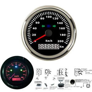 85mm 200km/h kph Motorcycle GPS Speedometer Odometer for Motorbike Boat Car IP66