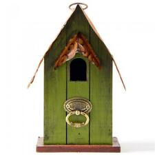 Glitzhome 10 in. H Rustic Garden Distressed Solid Wood Decorative Birdhouse