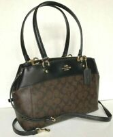 New Coach F25396 Brooke Carryall Signature Coated Canvas Brown / Black