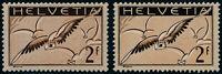 SCHWEIZ 1930, MiNr. 245 x und 245 z , ungebraucht, Mi. 89,-