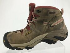 Keen Detroit Ankle Boots Brown Leather Steel Tow Trekking Booties Womens Sz 8.5