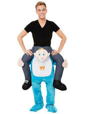 Adult Baby Guy Carry Me Mascot Costume Ride On Piggy Back Lovely Fancy Dress HOT