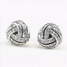 925 Sterling Silver Knot Stud Earrings