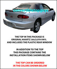 CHEVROLET CAVALIER & PONTIAC SUNFIRE CONVERTIBLE TOP-DOITYOURSELF PKG 1998-2000