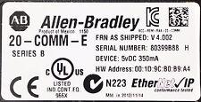 ALLEN-BRADLEY 20-COMM-E SERIES B POWERFLEX 700 ETHERNET CARD FIRMWARE 4.002