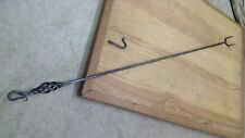 "Primitive 32"" Hand Forged Wrought Iron Fireplace Hearth Cooking Fork"