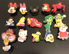Lot of 15 Disney Characters Original Jibbitz Shoe Charms for Crocs