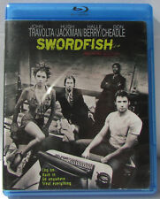 Swordfish Blu-ray - great condition! Hugh Jackman, John Travolta, Halle Berry!