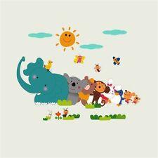 Cartoon Animal DIY Wall Sticker Kids Bedroom Home Decor Cute Zoo Nursery DecalAま