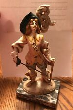 VINTAGE DEPOSE MUSKETEER FIGURINE #731 MADE IN ITALY ON MARBLE BASE