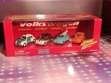 2002 Johnny Lightning 1:64 '66 VW Beetle 4 Car Boxed Set CRAGAR EXCLUSIVE NRFB