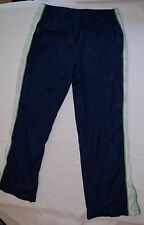 Athletic Works Women's Pants Exercise Sports Bottoms 12 - 14 Blue Green White