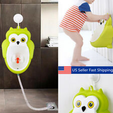 Green Owl Training Potty Toilet Kids Urinal Baby Boys Bathroom Hanging Pee Train