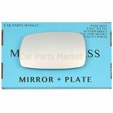 For TVR Tuscan 98-06 Left passenger side Flat wing mirror glass with plate